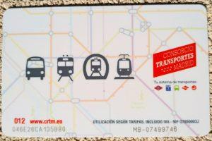 Tarjeta Multi para el transporte público de Madrid