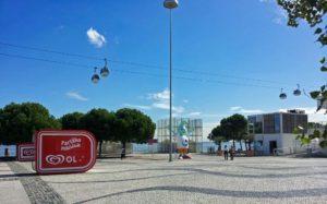 Teleférico en el Parque de las Naciones de Lisboa