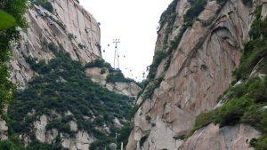 Teleférico en el Monte Huashan