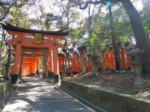 Santuario Fushimi Inari Taisha, famoso por aparecer en la película Memorias de una Geisha