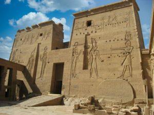 Templo de Isis, uno de los antiguos templos de File o Philae