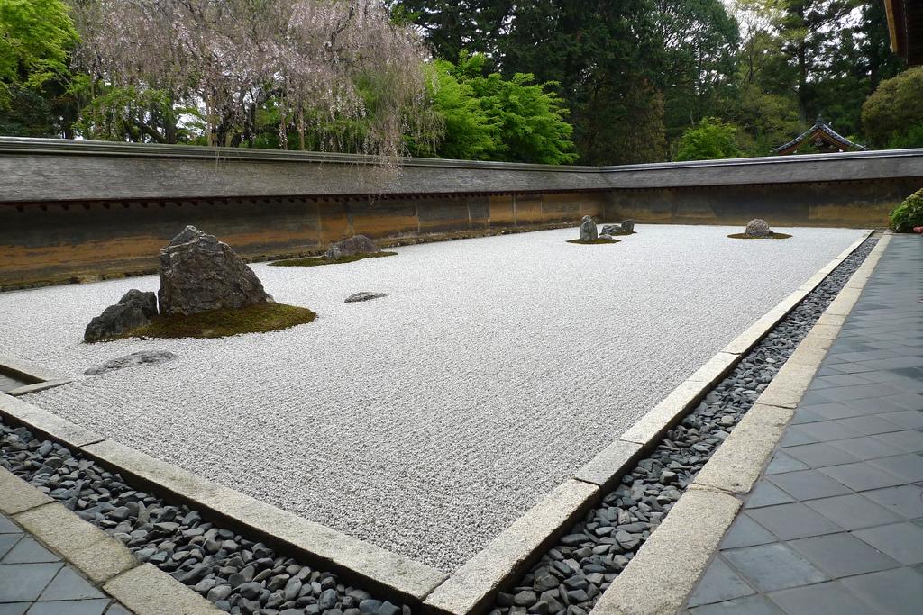 Jardín seco de Ryoanji en Kioto