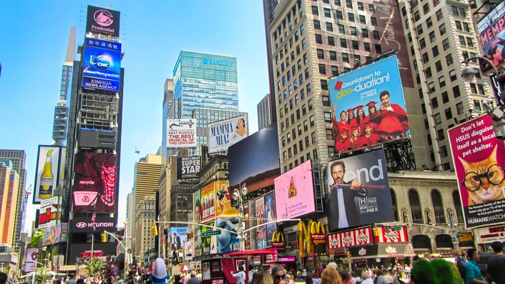 Times Square en el corazón de Manhattan