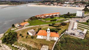 Faro de Suances en la Punta del Dichoso