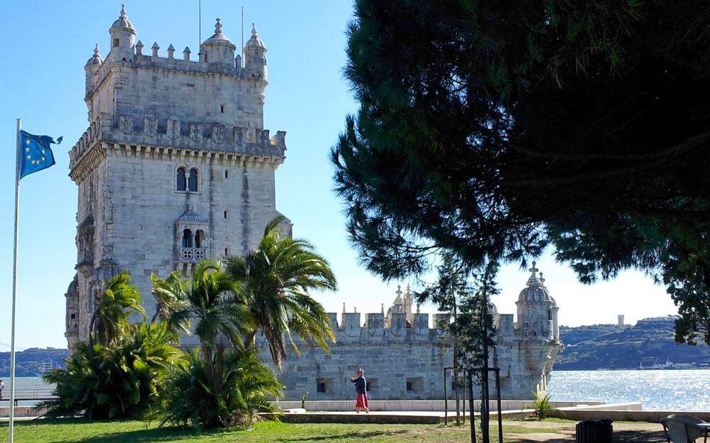Torre de Belém, a orillas del estuario del río Tajo