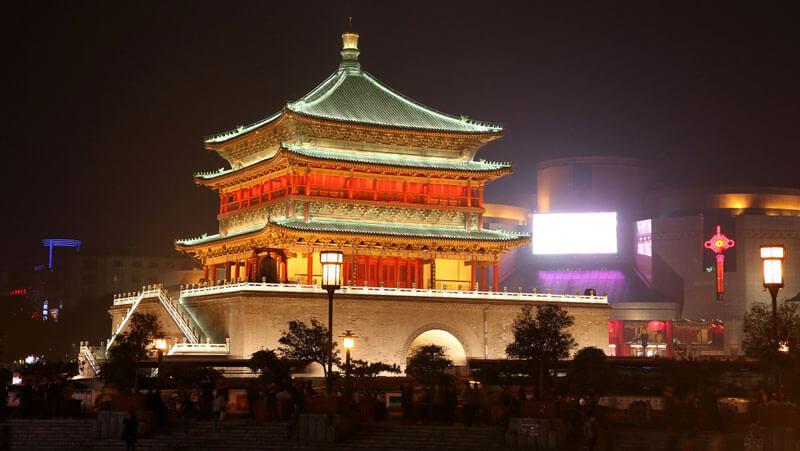 Torre del Tambor y Torre de la Campana de Xian