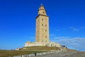 Torre de Hércules en La Coruña, el único faro romano del mundo que permanece en pie