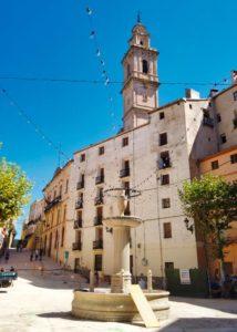 Torre campanario desde la Plaza del Ayuntamiento