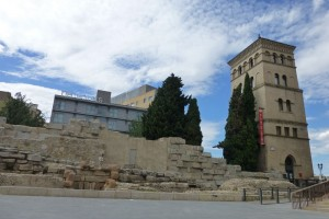 Torreón de la Zuda en la Plaza del Pilar