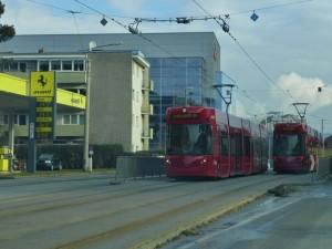El tranvía es uno de los medios de transporte más utilizados para moverse por Innsbruck
