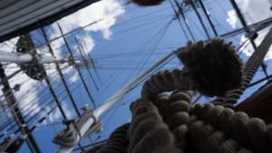 Interior del velero Cutty Sark en Greenwich