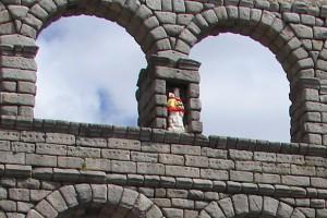 Virgen de la Fuencisla en el Acueducto de Segovia, fiestas de Segovia