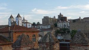 Vistas panorámicas del casco histórico de Cáceres, historia de Cáceres