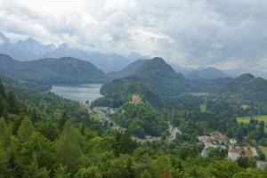 Vistas de Füssen a los pies de los Alpes Bávaros