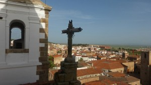Vistas de Cáceres desde la Iglesia de San Francisco Javier, iglesias de Cáceres