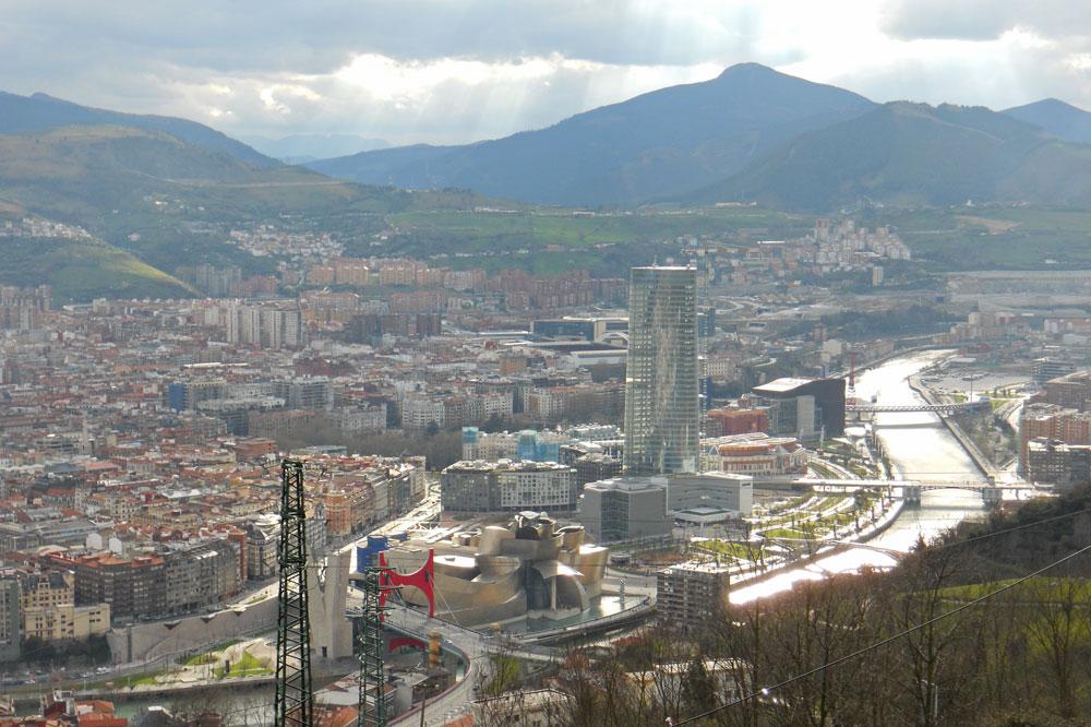 Vistas de Bilbao desde el Monte Artxanda, qué ver y hacer en Bilbao