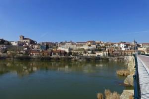 Vistas de Zamora desde el Puente de Piedra