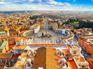 Vistas de Roma desde la cúpula de la Basílica de San Pedro