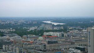 Vistas de Varsovia desde el Palacio de Cultura y Ciencia