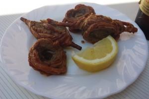 Zarajos, uno los platos típicos de la gastronomía de Molina de Aragón