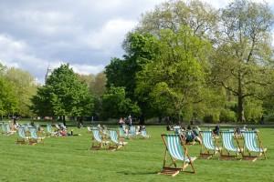Zona de recreo en Hyde Park, el más famoso de los parques de Londres
