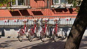 Punto de alquiler de bicicletas en Pekín