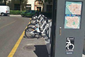 Estación de alquiler de bicicletas BiciMad