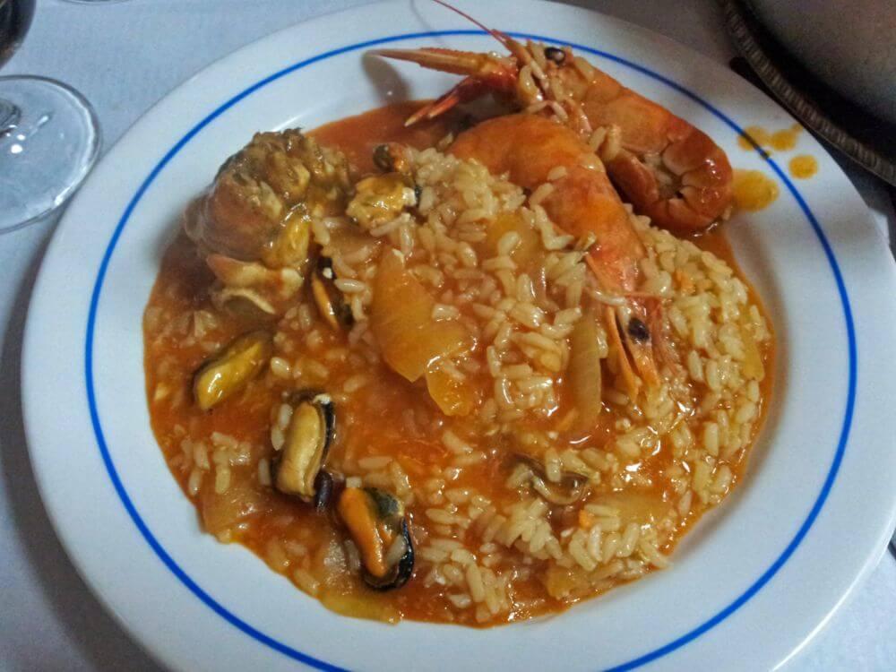 Arroz caldoso con marisco, uno de los platos típicos de la gastronomía de Lisboa