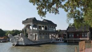 Barco de Mármol en el Palacio de Verano de Pekín