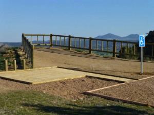 Mirador de los Enebros en las Barrancas de Burujón habilitado para personas con discapacidad