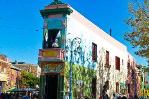 Barrio La Boca, zona donde se asentaron los inmigrantes europeos