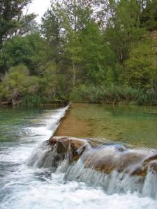 Cascada de la Herrería en el Alto Tajo