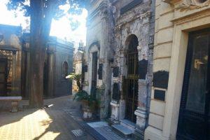 Mausoleos en el Cementerio de la Recoleta, en Buenos Aires