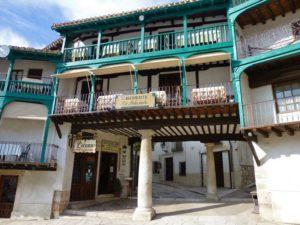 Detalle de un edificio de la Plaza Mayor de Chinchón