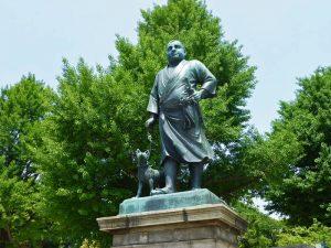 Estatua de Saigo Takamori en el Parque Ueno de Tokio