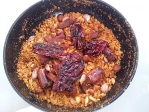 Migas manchegas, plato típico de las gastronomía de Tembleque