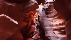 Paredes rocosas de Upper Antelope Canyon, la zona más visitada del Cañón del Antílope