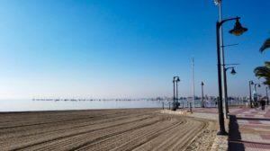 Playa de San Pedro del Pinatar en el Mar Menor