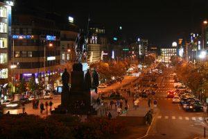 Plaza de Wenceslao, el principal atractivo del barrio Nové Město