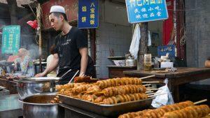 Puesto callejero en el Barrio Musulmán de Xian