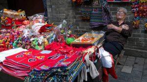 Puesto de souvenirs en Xian