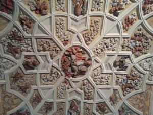 Detalles del techo de la Basílica de San Isidoro