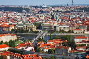 Panorámica del casco histórico de Praga