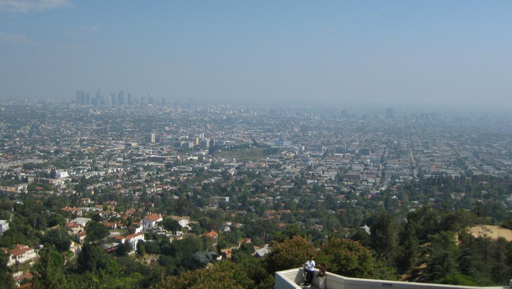 Vista panorámica del Downtown de Los Ángeles